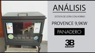 Análisis | Estufa de leña Provence 9,9KW | Panadero Denia
