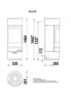 Печь- камин Scan 85-1